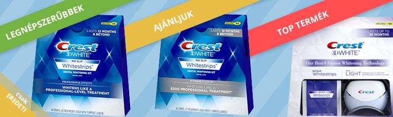 a legjobb fehérítő csíkok Crest 3D White
